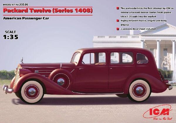 1/35 WWII US Packard Twelve (Series 1408) Passenger Car - ICM 35536