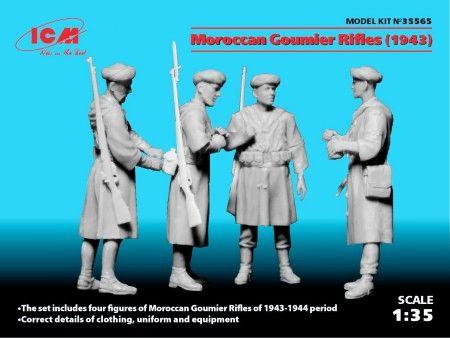 1/35 Moroccan Goumier Rifles 1943 Figure Set (3) (New Tool) - ICM 35565