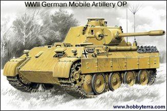 1/35 WWII German BeobPz Panther Mobile Artillery OP Tank - ICM 35571