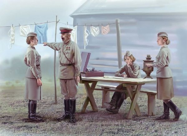 1/35 Soviet Service Women & Commander 1939-42 (4) - ICM 35621
