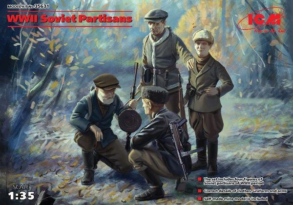 1/35 WWII Soviet Partisans (4) - ICM 35631