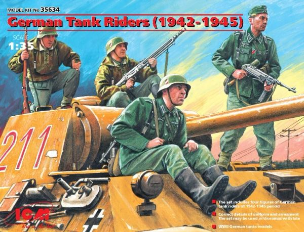 1/35 German Tank Riders 1942-45 (4) - ICM 35634
