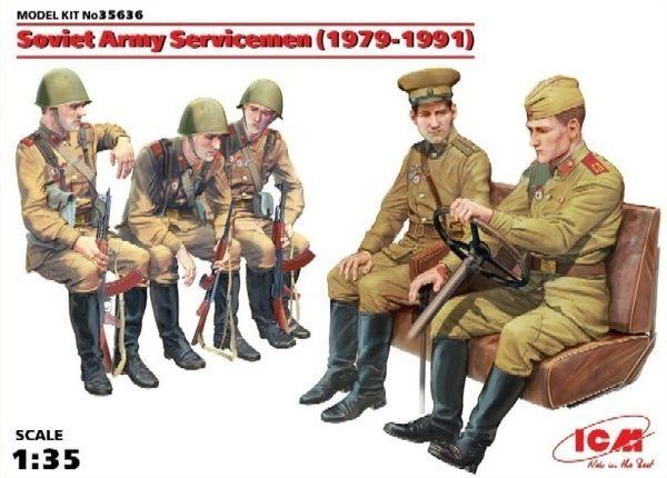 1/35 Soviet Army Servicemen 1979-91 (5) - ICM 35636