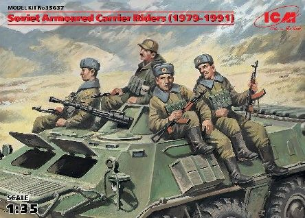 1/35 Soviet Armored Carrier Riders 1979-1991 (4) - ICM 35637