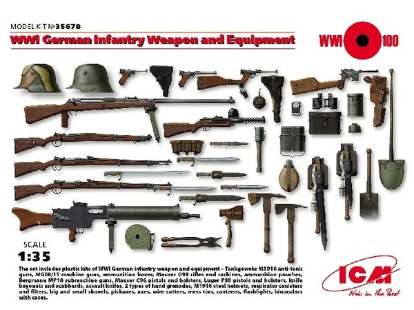 1/35 WWI German Infantry Weapon & Equipment - ICM 35678