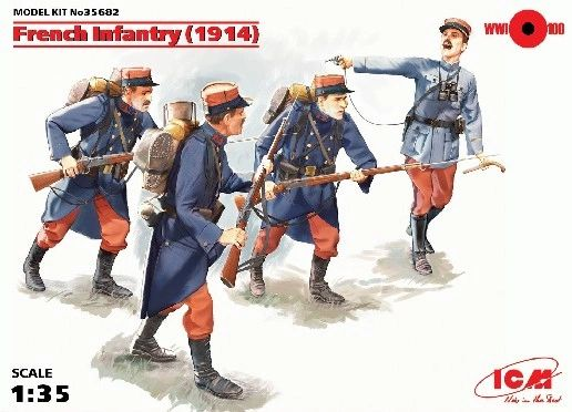 1/35 WWI French Infantry 1914 (4) - ICM 35682