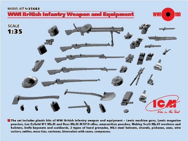 1/35 WWI British Infantry Weapons & Equipment - ICM 35683