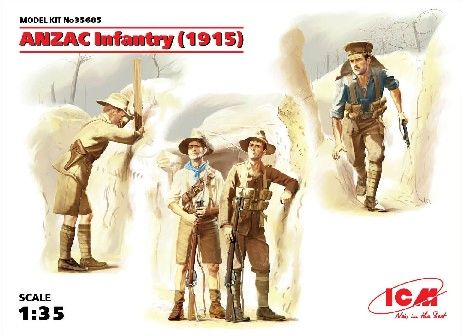1/35 WWI ANZAC (Australian & New Zealand) Infantry 1915 (4) - ICM 35685