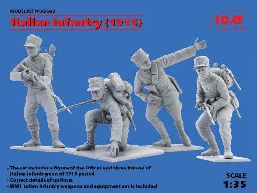 1/35 WWI Italian Infantry 1915 (4) - ICM 35687