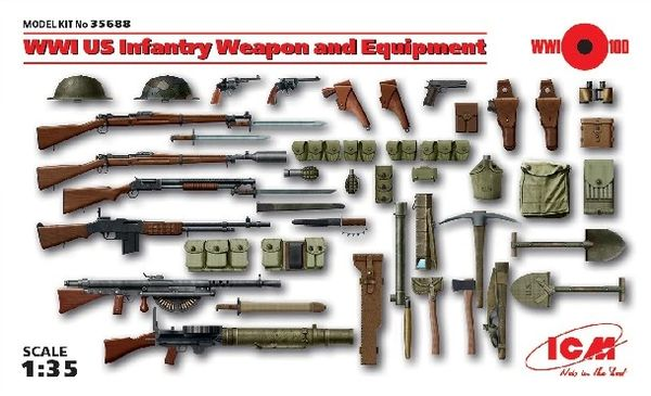 1/35 WWI US Infantry Weapon & Equipment - ICM 35688