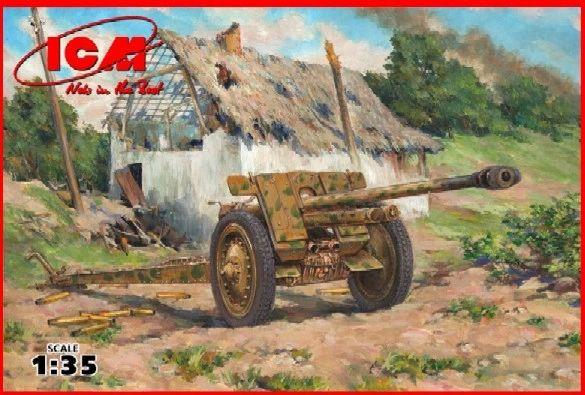 1/35 WWII German 7,62cm PaK 36(r) Anti-Tank Gun - ICM 35701