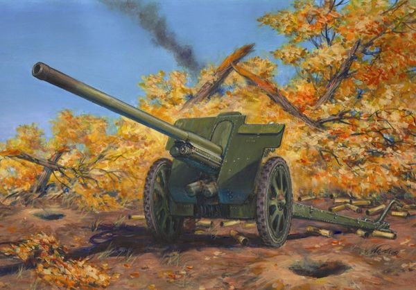 1/35 WWII Soviet 76,2mm F22 Divisional Gun - ICM 35702
