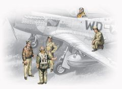 1/48 USAAF Pilots & Ground Personnel 1941-45 (5) - ICM 48083
