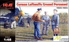 1/48 German Luftwaffe Ground Personnel 1939-45 (7) - ICM 48085
