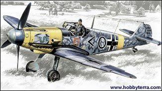 1/48 WWII Messerschmitt Bf109F2 Fighter - ICM 48102
