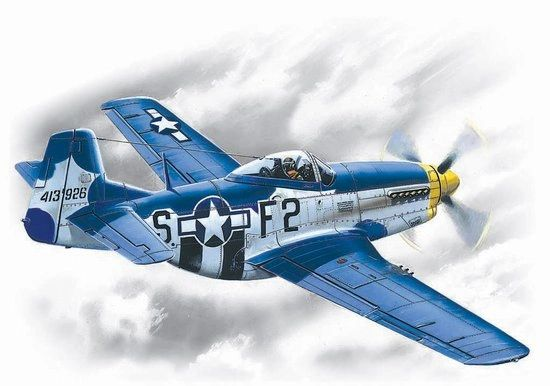 1/48 WWII USAF P51D15 Mustang Fighter - ICM 48151
