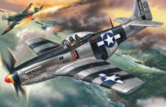 1/48 WWII USAF P51K Mustang Fighter - ICM 48154