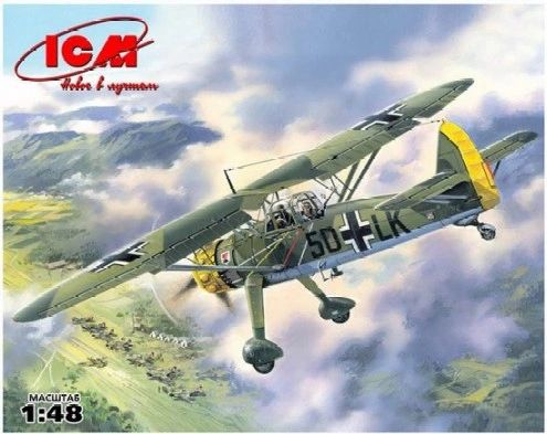 1/48 WWII German Hs126A1 Recon Aircraft - ICM 48211