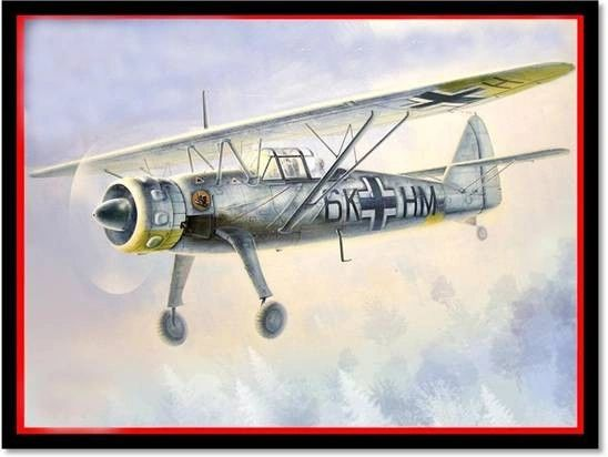 1/48 WWII German Recon Hs126B1 Aircraft - ICM 48212