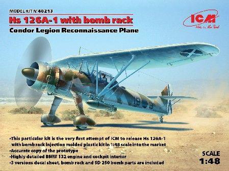 1/48 Hs126A1 Condor Legion Recon Aircraft w/Bomb Rack - ICM 48213