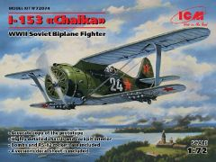 1/72 WWII Soviet I153 Chaika BiPlane Fighter - ICM 72074