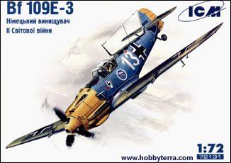 1/72 WWII Messerschmitt Bf109E3 Fighter - ICM 72131