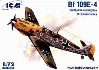 1/72 WWII Messerschmitt Bf109E4 Fighter - ICM 72132