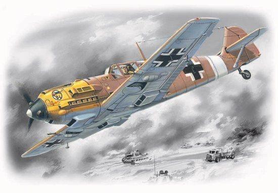 1/72 WWII Messerschmitt Bf109E7/Trop Fighter - ICM 72133