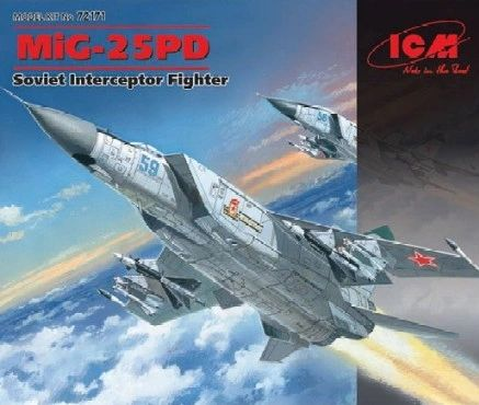 1/72 Soviet MiG25PD Heavy Interceptor Fighter - ICM 72171