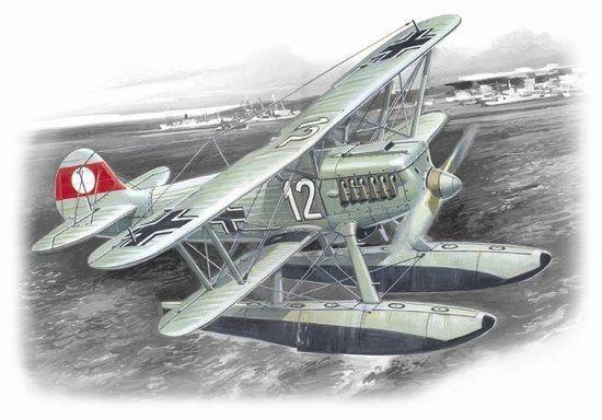1/72 German Heinkel He51B2 Floatplane Fighter - ICM 72192