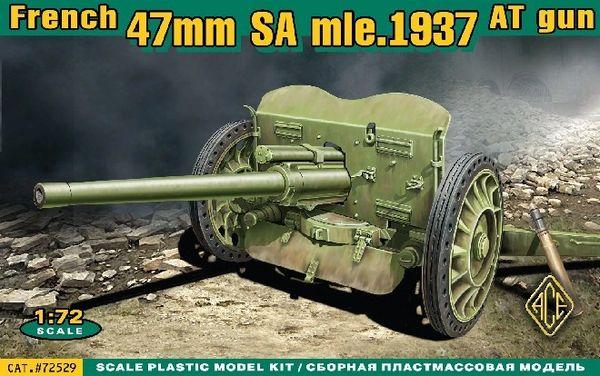 1/72 French 47mm SA Mod 1937 Anti-Tank Gun - ACE 72529