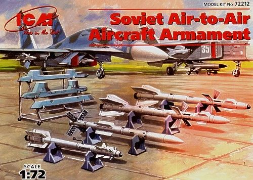 1/72 Soviet Air-to-Air Aircraft Armament Set - ICM 72212