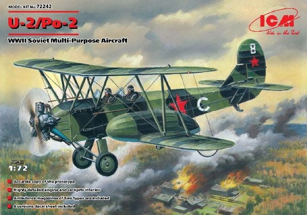 1/72 WWII Soviet U2/Po2 Multi-Purpose Aircraft - ICM 72242