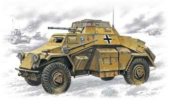1/72 WWII SdKfz 222 Light Armored Vehicle - ICM 72411