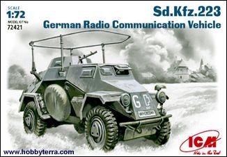 1/72 WWII German SdKfz 233 Radio Communication Vehicle - ICM 72421