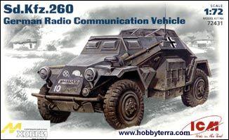 1/72 WWII German SdKfz 260 Radio Communication Vehicle - ICM 72431