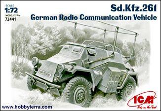 1/72 WWII German SdKfz 261 Radio Communication Vehicle - ICM 72441