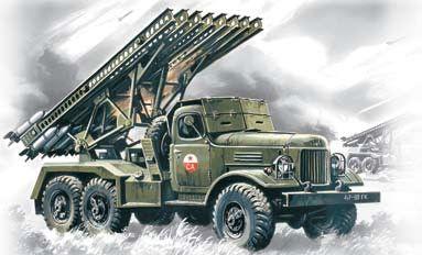 1/72 Soviet BM13/16 Katyusha Multiple Rocket Launcher Vehicle - ICM 72571
