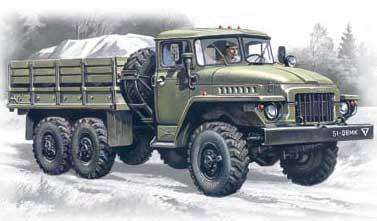 1/72 Ural 375D Army Truck - ICM 72711