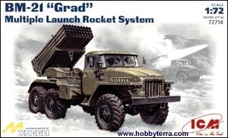 1/72 BM21 Grad Multiple Launch Rocket System Vehicle - ICM 72714