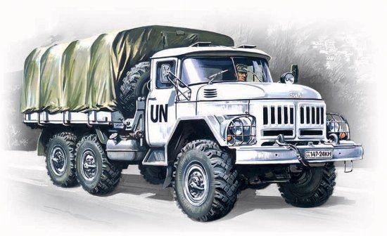 1/72 ZiL131 Stake Body Army Truck - ICM 72811