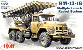 1/72 BM13-16 Multiple Launch Rocket System Vehicle - ICM 72814
