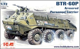 1/72 Soviet BTR60P Armored Personnel Carrier - ICM 72901
