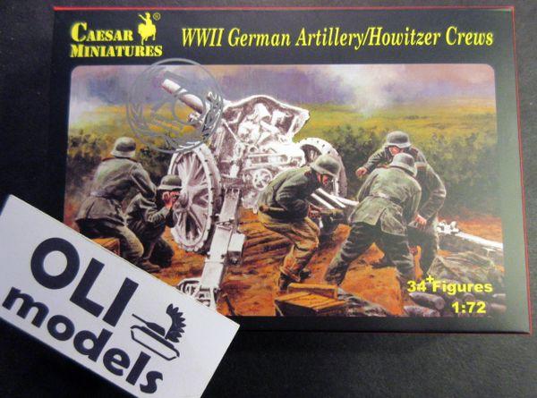 1/72 WWII German Artillery Howitzer Crew (32+) - Caesar 84