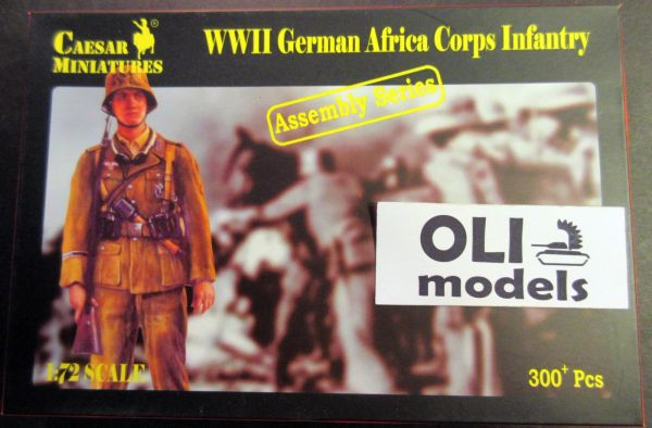 1/72 WWII German Africa Corps Infantry (16 multi-posed figs) - Caesar 7713