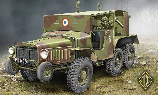1/72 W15T CC 6x6 French Tank Hunter - ACE 72537
