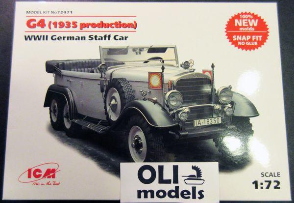 1/72 WWII German Mercedens-Benz W31 type G4 1935 Production Staff Car - ICM 72471