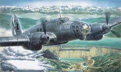 1/72 Heinkel He111B1/2 WWII Bomber - Roden 5