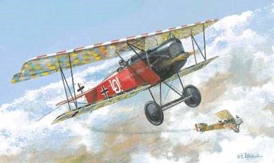 1/72 Fokker D VIII (OAW) Early BiPlane Fighter - Roden 13