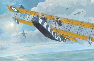 1/72 Felixstowe F2A (Late) Flying Boat BiPlane - Roden 14